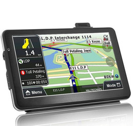 Wholesale german maps - 7 inch Portable Car GPS 718N HD 800*480 Navigation System Bluetooth AVIN Capacit Screen FM 8GB 256MB Vehicle Truck GPS Maps Guide