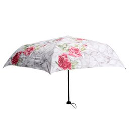 Wholesale Decorative Fashion Fabric - Wholesale-New Fashion Women Rain Romantic Rose Flower Umbrellas Creative Sunshade Anti-UV Decorative Parasol Umbrella