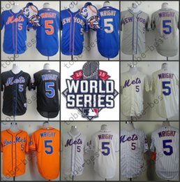 Wholesale New York Mets David Wright Jersey Stitched Men s Baseball Jersey Shirt With World Series Patch