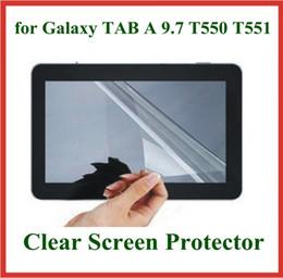 2019 tablette transparente 5pcs transparent Tablet PC Protecteur d'écran pour Samsung Galaxy TAB A 9.7 T550 T551 T555 Film de protection promotion tablette transparente
