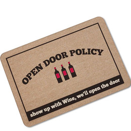 Wholesale Doormat Red Carpet - Humorous Funny mat Saying Quotes If You Forgot The Wine Go Home Welcome Doormat Non-slip Kitchen Rugs Floor Mats carpet drop shipping