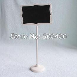 tafelhalter Rabatt 10x Mini Blackboard Tafel Chalk board Stand Place Halter Präfekt für Hochzeit Dekoration | Weißdruck | 1121