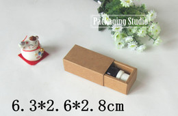 Wholesale Essential Oil Packaging Boxes - Wholesale- Free Shipping Small Gift Box Cosmetic Essential oil Bottle Lipstick Perfume Packaging Drawer Kraft Paper Boxes