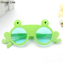 Wholesale Tropical Party Dresses - Funny Green Frog Costume Glasses Fancy Dress Photobooth Props Tropical Kid Gifts Birthday Animal Theme Party Supplies Decoration