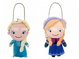 Wholesale Fabric Backpack Purses - Frozen ice queen plush toy doll Frozen anna elsa plush cartoon wallet coin Frozen plush purse cartoon plush coin bag free shipping