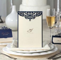 convites casamento Rebajas Champán, elegante, corte láser, invitaciones de boda, corte láser, tarjetas de invitación de boda con envío gratis Convites De Casamento