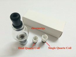Wholesale Ego T Replacement Batteries - Newest Wax Coils Glass Globe Atomizer Dry Herb Vaporizer Replacement Wax Vapor Tank with Quartz Coil Head for EGO T Evod Battery