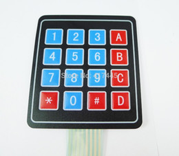 Wholesale 4x4 Matrix - Wholesale-10pcs lot 16 Key Membrane Switch Keypad Keyboard 4 x 4 4X4 4*4 Matrix Array