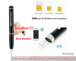 Wholesale High Quality Earpiece - 2018 New high quality Gsm pen earpiece mini earpiece gsm pen
