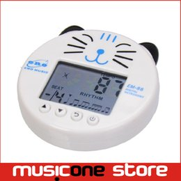 Wholesale Bass Guitar White - ENO EM-88 Digital Music Metronome Mini LCD Display Carton Cat Shape Metr Free shipping MU0122