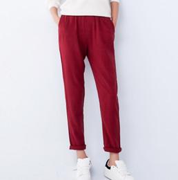 Wholesale Women Match Cargo - 2015 New Cotton Casual Sport Trousers Women Fashion Elastic Waist Harem Pants S~XXL Slim All-Match Baggy Women Pants FG1511