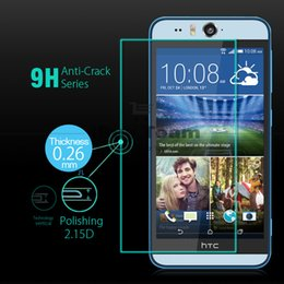 Wholesale Screen Guard Retail Pack - Wholesale-Explosion Proof Tempered Glass for HTC Desire Eye M910X Screen Protector Anti Shatter Protective Film Guard with Retail Packing