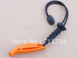 Wholesale Paracord Orange - Wholesale-20pcs Outdoor Survival Emergency Whistle w  Paracord Twine Strap - Orange (Outdoor necessary article Emergency call)