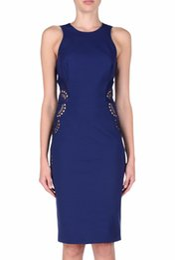 Wholesale Sexy Mini Dress Cutouts - Fashion Women Cutout Sheath Dress Elegant Sexy Sleeveless Mini Party Dresses 150615663E