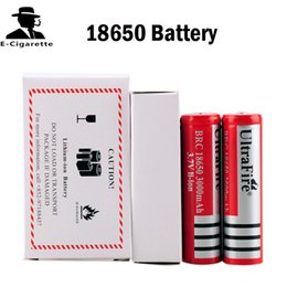 Wholesale camera li - Ultrafire 18650 Rechargeable lithium Li-ion Battery 3000mAh with PCB for LED Camera Laser Torch Flashlight VS VTC5 25R 18650