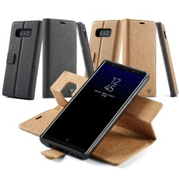 Wholesale Full Purse - Phone Cases 2 in 1 split Purse Leather Case Kickstand Card For Samsung Galaxy S6 S7 Edge S8 Note 8 Full Package