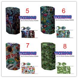 Wholesale Evic Wraps - Wismec rx200 skin wrap stickers VS Subox Nebox cover IPV D2 D3 skin cover eVic VT skin RX200 IPV3 Li skin wrap Label