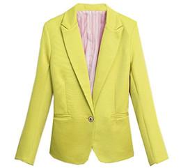 Wholesale Women S Slim Fit Suits - XQS Womens Blazer Fashion Long Sleeve Slim Fit Office Suits Coats