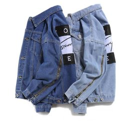 Wholesale Casual Jeans Tops Women - Selling jeans women men tops spring and autumn harajuku summer t shirts Sweatsh men womens clothing denim jacket