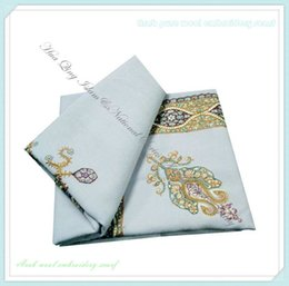 Wholesale Cheap White Scarves - hot wholesale 120pcs lot men Arab wool embroidery scarf muslim scarves wholesale online high qualtiy cheap price