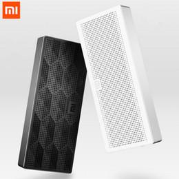 xiaomi мини-квадрат box bluetooth speaker Скидка Wholesale- Original Xiaomi Speaker Wireless Portable Stereo Mini Bluetooth 4.0 Square Box Speakers For Xiaomi Samsung iPhone 7 Smartphone