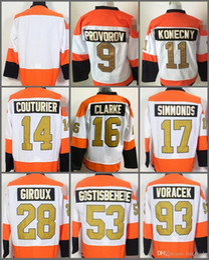 Wholesale Blue Grey Classic - 50th Anniversary Philadelphia Flyers Jerseys,28 Claude Giroux,17 Wayne Simmonds,53 Shayne Gostisbehere,Winter Classic Gold Throwback Hockey