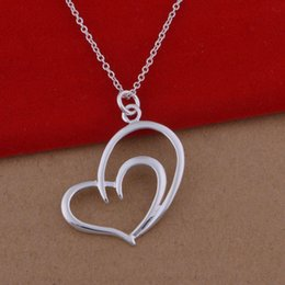 Wholesale Large Love Necklace - 925 sterling silver necklace Korean pop love necklace jewelry wholesale trade large spot