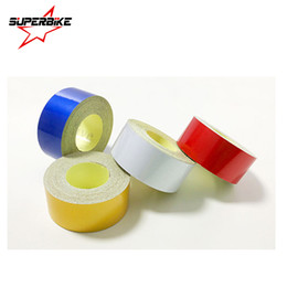 Wholesale Vinyl Materials - Car Sticker 2cm*5m Reflective Sheeting Tape Adhesive Film Reflect Auto Body Motorcycle Bike Vinyl Decal Style Decoration Film