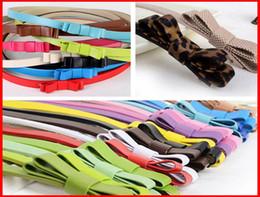 Wholesale Skinny Leather Dress - 2015 Fashion Belt Children Belts Fashion Dress Belts Girls Belt Leather Belt Kids Belt Skinny Belt Sash Belt Children Accessories Girl Belts