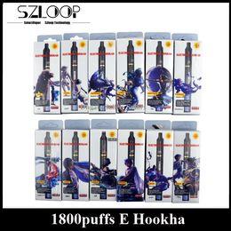 Wholesale E Flavours - Zodiac 1800Puff Disposable E Cigarettes 12 Constellation E Hookha Shisha Pens By LUD Fruit Flavour Tobacco Flavours