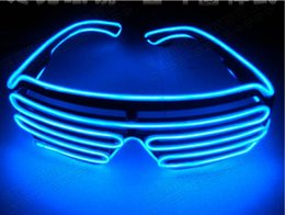 Wholesale Plastic Toy Glasses - Voice Activate EL Wire Light LED Glasses Bright Light Party Glasses Club Bar Performance Glow Party DJ Dance Eyeglasses Led Toys