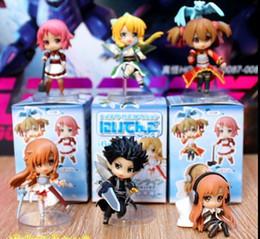 """Wholesale Sword Set Wholesale - Anime action figure 6pcs set Sword Art Online Fairy Dance Kirito Asuna Lefa PVC Action Figures Toys 6pcs set 2.5"""" 6CM"""