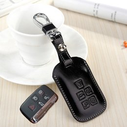 Wholesale Discovery Land - fashion genuine Leather Key fob Cover For Land rover RANGE ROVER SPORT Evoque Freelander 2 DISCOVERY 3 4 key holder keychain