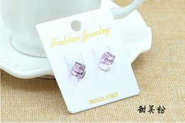 Wholesale Cheap Girls Studs - 10 Pairs A Lots 2015 Fashion Jewelry New Lovely Stud Earrings Crystal Head Jewellery Cheap Hot Selling Earrings Gifts For Women Girls
