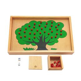 Wholesale Apple Box Toys - Wholesale-Montessori Material Wooden Apple Tree Box Toy Montessori Game Toys Educational Brain Training Play Learning Kids Toys