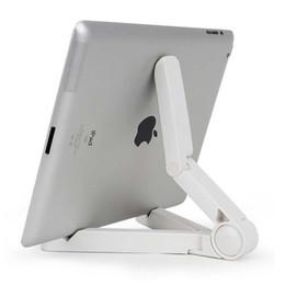 Складная подставка для планшета для iphone онлайн-Универсальный настольный регулируемый Складной держатель подставки гибкий портативный планшет кронштейн для iPhone Samsung iPad Mini Tablet PC