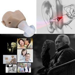 Wholesale Ear Aid Voice Amplifier - New Small In-Ear Voice Sound Amplifier Adjustable Tone Mini Hearing Ear Aid