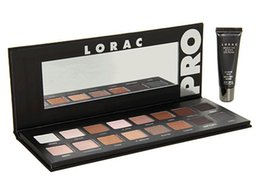 Wholesale lorac eyeshadow primer - New Makeup LORAC PRO Palette 16 Colors Eyeshadow With Eye Primer Luminous Eye shadow Palette Band Makeup cosmetics free shipping DHL 60098