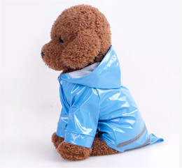 Wholesale Wedding Boys Clothing - Spring and summer PU reflection With hat waterproof dog coats raincoat dog clothes for small dogs boy