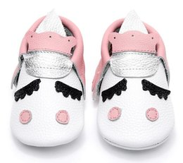 Wholesale Golden Unicorn - Unique style 100% genuine leather newborn baby moccasins christmas gifts kids party shoes Blush golden angle Unicorn Baby boot