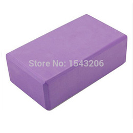 Wholesale Wholesale Track Equipment - 2X Yoga Foam Block Props Foaming Blocks Brick For Exercise Gym Training Fitness Tools Sport Equipment Purple small order no tracking