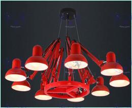 nettes schlafzimmer pendelleuchten Rabatt Wunderland 6/9/12/16 Lichter schwarz / rot / weiß Luxus Spinne Kronleuchter Innenbeleuchtung Lampe Foyer Pendelleuchte Art Brand Designer