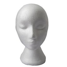 Wholesale Wig Mannequin Heads For Sale - New Arrival Display Wig hair Glasses Hat Lightweight Styrofoam Foam Mannequin Manikin Head Stand Model Female For Sale