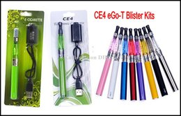 Wholesale Ego T Battery Rohs - CE4 E Cigarette Kit Blister Pack Kit 650mah 900mah 1100mah eGo-T Battery CE mark RoHS certification Various Colors eGo CE4 E Cig Kit Instock