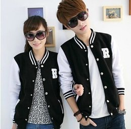 Wholesale Cheaper Women Coats - Fall-The big sale! The first men and women fashion jackets Baseball Jacket Coat cross quarter cheaper Baseball Jacket
