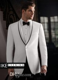 Wholesale Sequin Tuxedo Jacket Men - Brand New One Button Groom Tuxedos Best man Suit Shawl Collar Groomsman Men Wedding Suits Bridegroom(Jacket+Pants+Tie+Girdle)J681