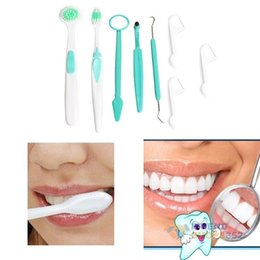 Wholesale Oral Care Products - #F9s 8in1 Oral Care Dental Care Tooth Brush Kit Cleaning Dental Hygiene Products Free Shipping