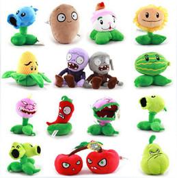 Wholesale Zombie Wholesale Toys - 15pcs Plants VS Zombies Plush Toy Stuffed Animal - Melon Pult15-- 30CM 6Inch Tall