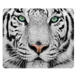 rilievi del mouse di gomma all'ingrosso Sconti All'ingrosso-Animal White Tiger Outline Disegni Mouse pad del computer antiscivolo in gomma resistente Tappetino per mouse personalizzato Multicolor Gamer Gaming Mousepad