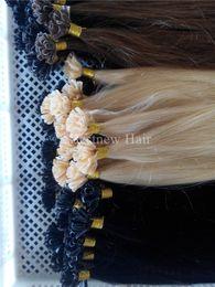 """Wholesale Nail Tip Indian Hairs - 100g 16""""18""""20""""22""""24"""" Prebonded Keratin Nail Tip U tip Fusion Indian Remy Human Hair Extensions 100 s pcs"""